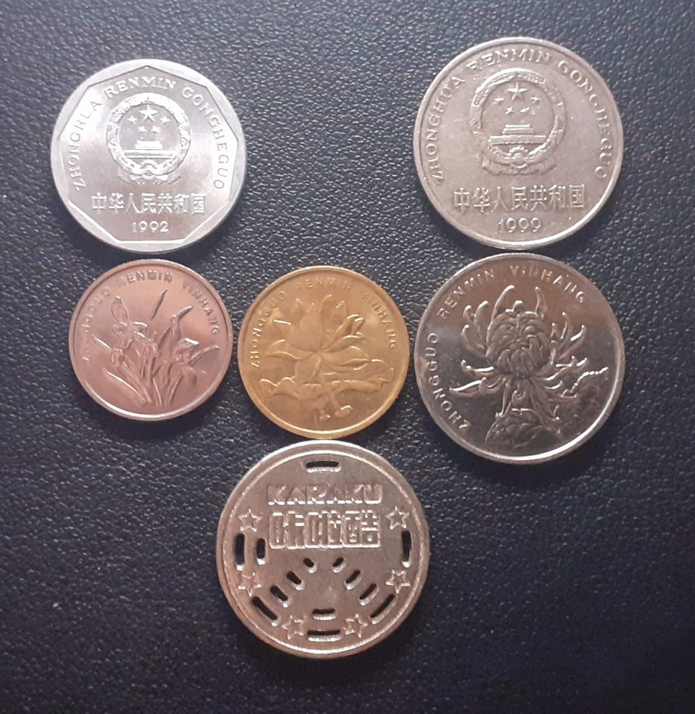 Chinese Coins Back