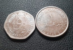 United Arab Emirates Coins Back